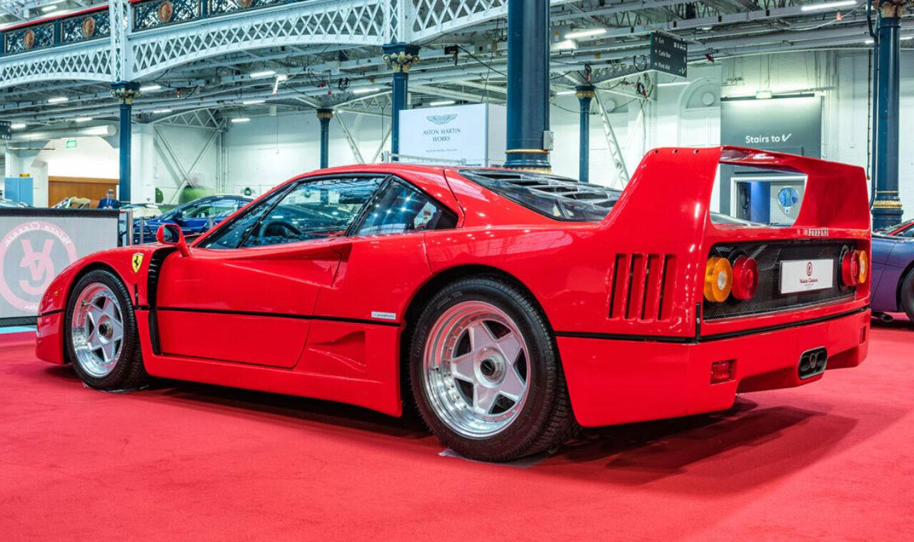 Ferrari F40 at The London Classic Car Sho