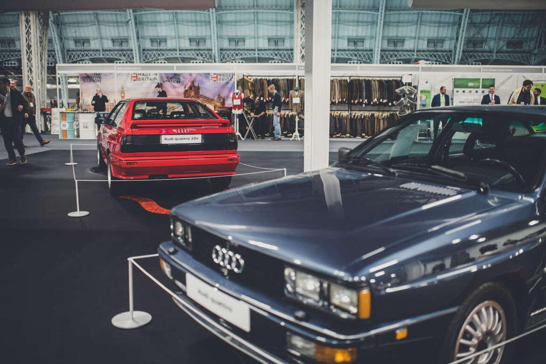 Audis at a car show