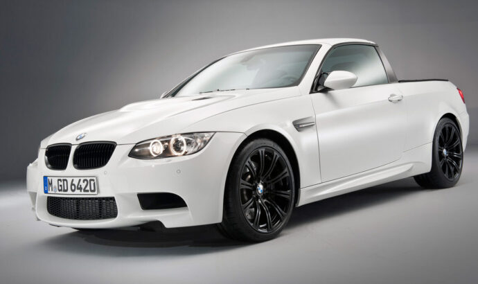 Photo of the front of a BMW M3 Pickup truck!